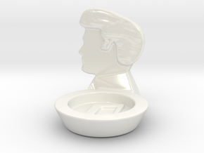 RockStarHairStyle CandleHolder in Gloss White Porcelain