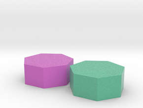 Two small heptagons in Full Color Sandstone