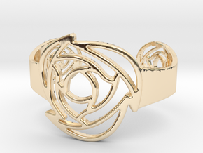 Rose B Bangle in 14k Gold Plated Brass