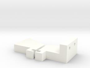 A-main Bullet Servo Blocks in White Processed Versatile Plastic