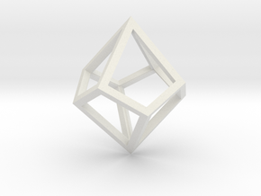 Square Trapezohedron Frame in White Natural Versatile Plastic