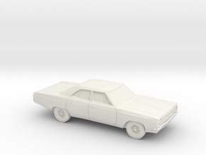 1/87 1968-70 Plymouth Satellite Sedan in White Strong & Flexible