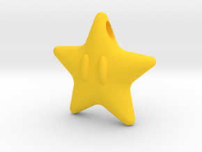 Power Star Mario Pendant in Yellow Processed Versatile Plastic