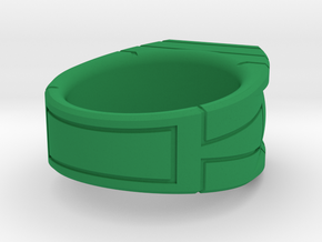 Size 10 Green Lantern Ring in Green Processed Versatile Plastic