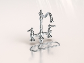Miniature Doll House Kitchen Faucet B, 1:12 in Frosted Extreme Detail