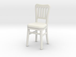 1:48 Cheltenham Chair in White Strong & Flexible