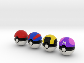 Pokeballs (Set 01) in Full Color Sandstone