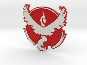 Pokemon Go - Team Valor Badge 1 in Full Color Sandstone