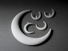Luna Moon Set in White Natural Versatile Plastic