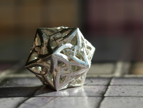 Celtic D20 in Natural Silver