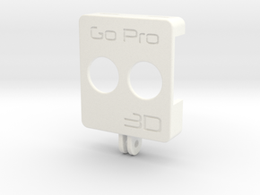 3D rig front for GoPro Hero 4 (1 of 2) in White Processed Versatile Plastic