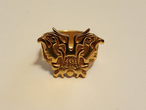 Kaiju Ring, Pacific Rim   size 8 in Polished Brass