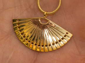 Fan in 18k Gold Plated Brass