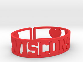 Wisconsin Cuff in Red Processed Versatile Plastic