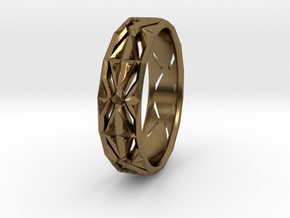 Cut Facets Ring Sz. 5.5 in Polished Bronze