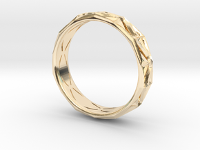 Cut Facets Ring Sz. 8 in 14K Yellow Gold