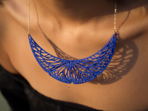 Butterfly Pendant (L) in Blue Processed Versatile Plastic