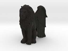 Lion, Winged, 42mm in Black Natural Versatile Plastic