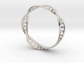 DNA Bracelet (Large) in Platinum