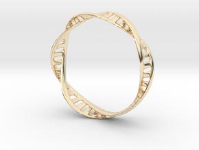 DNA Bracelet (Large) in 14k Gold Plated Brass