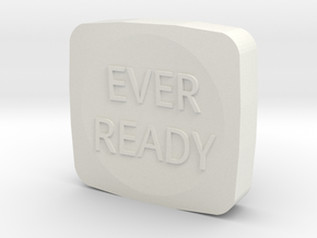 Eveready (Ever Ready) Minilight Button in White Natural Versatile Plastic