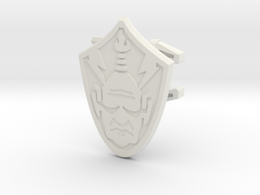 Baltard Shield - 4mm MOTU Scale in White Natural Versatile Plastic