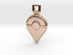 Pokemon GO - Logo Pendant/Necklace/Keychain in 14k Rose Gold Plated Brass