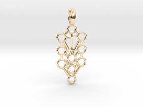 TREE OF LIFE in 14k Gold Plated Brass