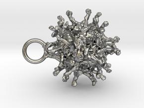 Poliovirus Pendant in Raw Silver