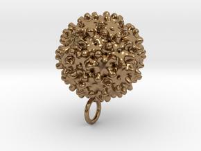 Hepatitis B Virus Pendant in Natural Brass
