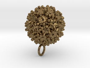 Hepatitis B Virus Pendant in Natural Bronze