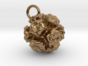 Adenovirus Pendant 15mm  in Natural Brass