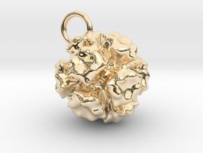 Adenovirus Pendant 15mm  in 14K Yellow Gold