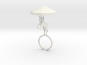 Carousel Ring in White Natural Versatile Plastic