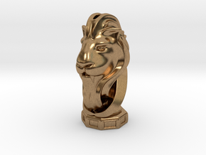 LionHeart(Pendant) in Natural Brass