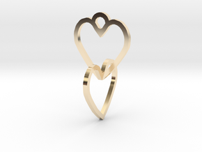 Connected heart of the ring in 14K Yellow Gold