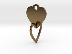 heart of the ring to connect with heart in Polished Bronze