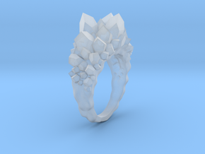 Crystal Ring Size 7.5 in Smooth Fine Detail Plastic