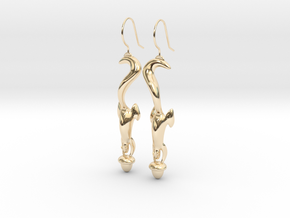 Squirrely Earrings in 14K Yellow Gold