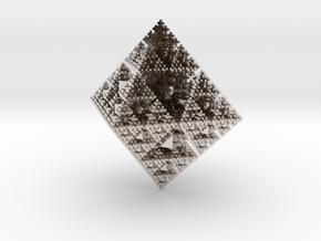 Snowflake Fractal in Platinum