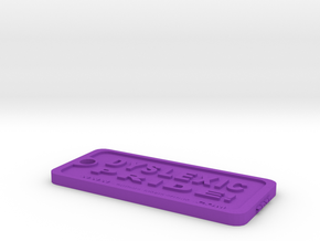 Tag-D-10 in Purple Processed Versatile Plastic