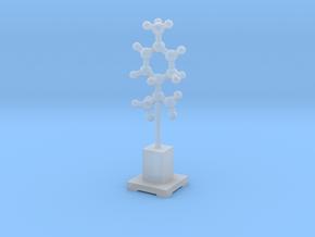 Molecule Statuette in Smooth Fine Detail Plastic