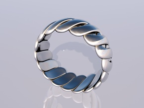 Torus Ring in Polished Silver