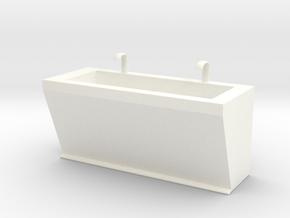 Scrubbing Sink in White Processed Versatile Plastic
