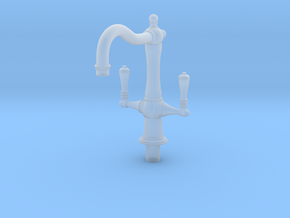 Miniature Dolls House Kitchen Faucet A, 1:12 in Smooth Fine Detail Plastic