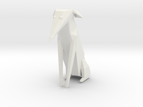 Folded Sculpture Dogs, Italian Greyhound in White Strong & Flexible