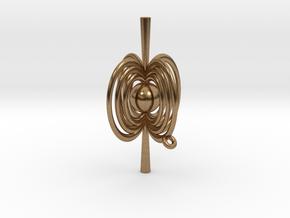 Pulsar Pendant in Natural Brass