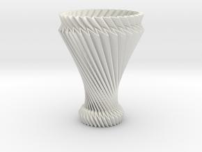 Hyperboloid Decorative Lamp V1 in White Natural Versatile Plastic