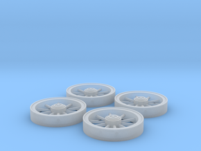 Trolley Wheels (1:32) in Frosted Ultra Detail