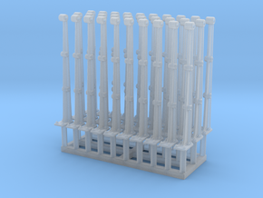Jetty Railing Posts Set of 30 in Smooth Fine Detail Plastic: 1:48